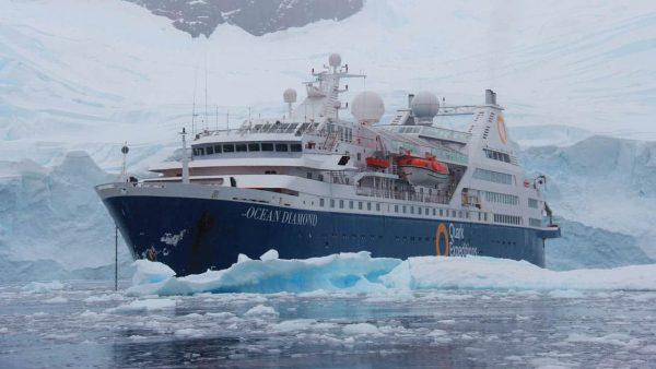 quark antarctica ship near ice