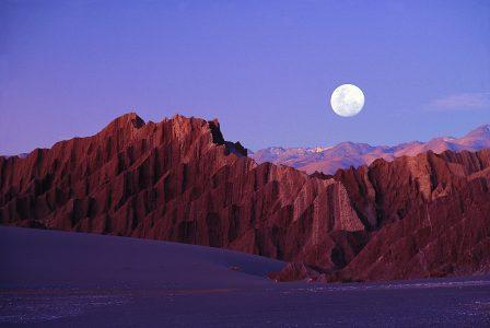 moon over desert