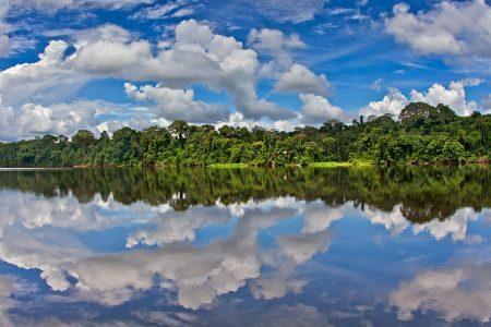 peru amazon blue sky